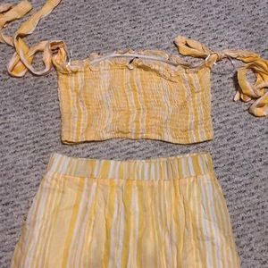 Yellow long two piece